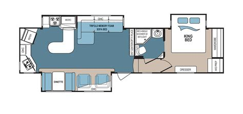 denali 5th wheel floor plans new 2016 dutchmen denali 293rks fifth wheel for sale