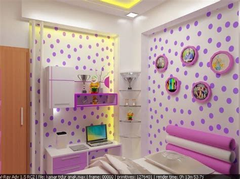 wallpaper ruangan anak 3 tips desain kamar tidur anak perempuan rumah minimalis
