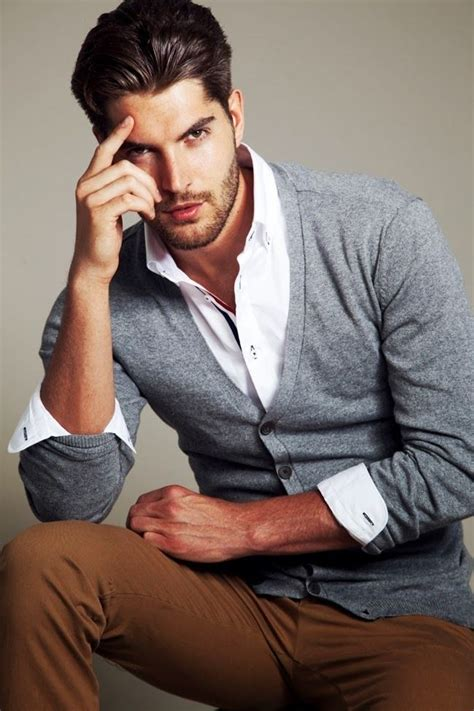 T N P Fashion Chino Grey nick bateman s grey cardigan white shirt and brown