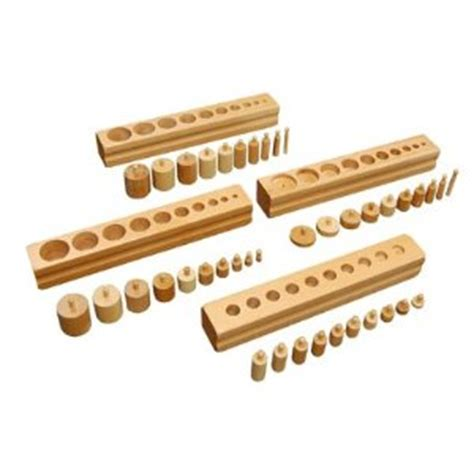 montessori activity review knobbed cylinder blocks