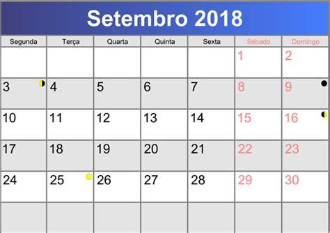 Calendã Setembro 2018 Calend 193 2018 Feriados E Datas Comemorativas 2018
