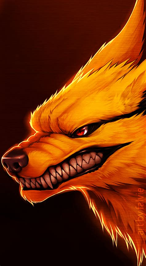 nine tailed demon fox by falvie on deviantart