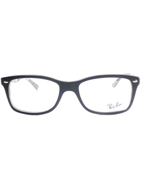 Rayban Elastis Lensa ban rectangle plastic eyeglasses in black save 24 lyst