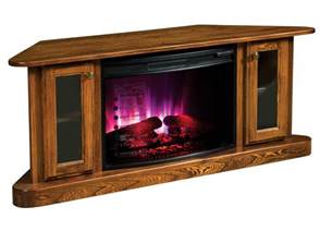 Amish Electric Fireplace Cascadia Corner Electric Fireplace Tv Stand From Dutchcrafters Amish