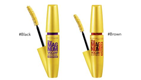 Maskara Maybelline The Magnum Volume maybelline volume express magnum mascara 3 colors to choose hermo shop malaysia