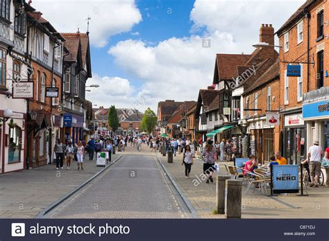 shops on henley street in the historic centre stratford