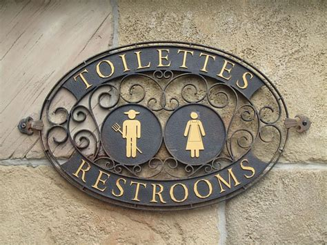 fancy bathroom signs mouseinfo com inside and indepth new fantasyland at