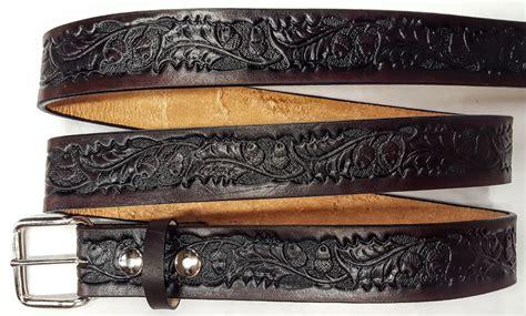 Handmade Belts Usa - handmade belts usa leather embossed belt oak leaf acorn