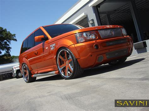land rover chrome range rover sport savini wheels