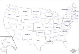 usa map outline with state names outline map usa with state names