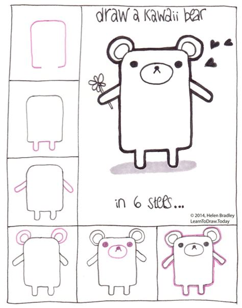 how to draw a golden doodle draw a kawaii teddy step by step kawaii and doodles