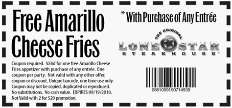 printable lone star steakhouse coupons lone star steakhouse printable coupon printable coupons