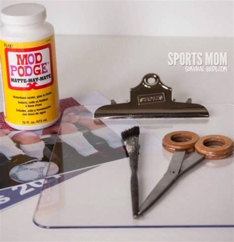 photo presents diy photo clipboard perfect for a coach gift