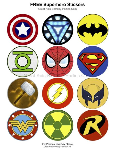 printable heroes superhero printables