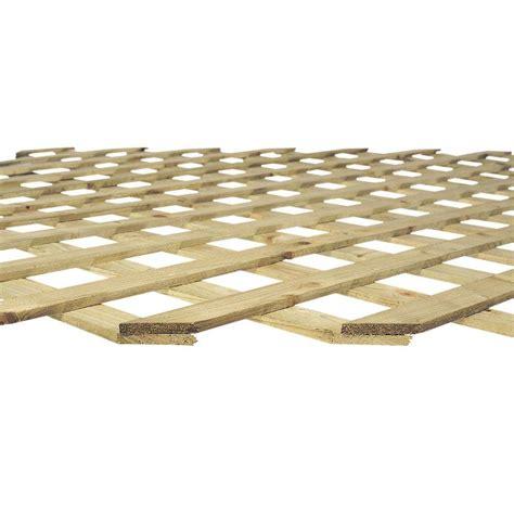 7 16 in x 4 ft x 8 ft pressure treated garden lattice