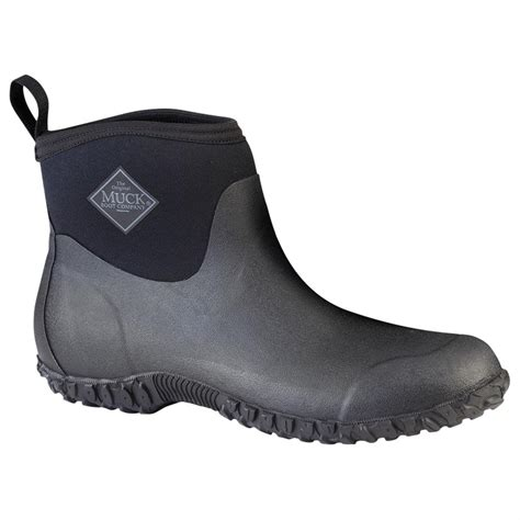 mens ankle rubber boots muck boot s muckster ii ankle waterproof boots