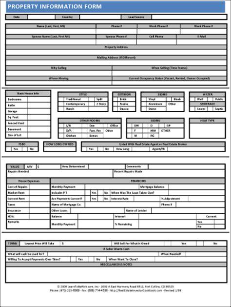 property information sheet james orr real estate services