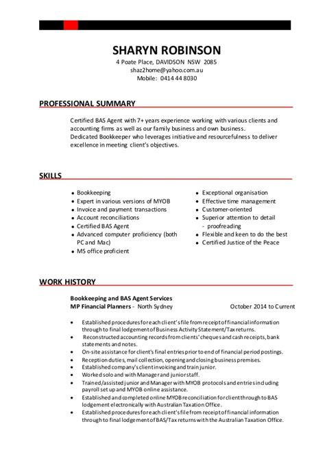 resume own business