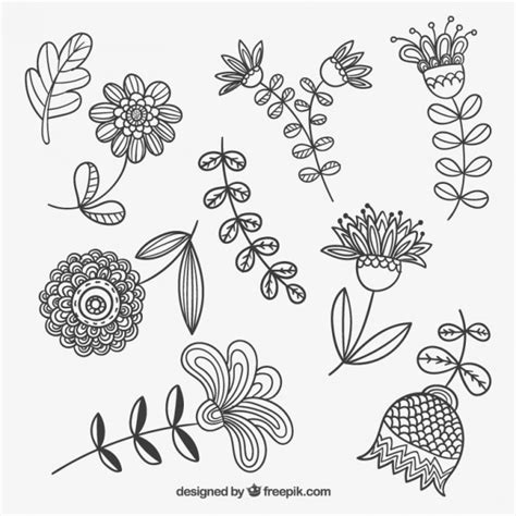flower doodle ai sketchy flowers vector free