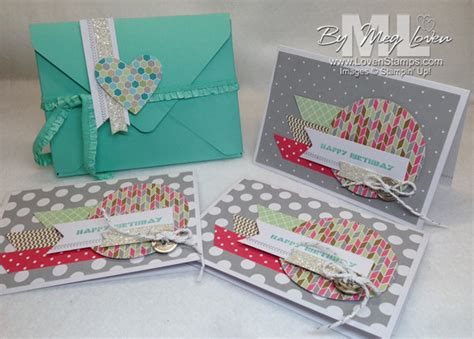 tutorial carding mailer envelope punch board card box tutorial lovensts