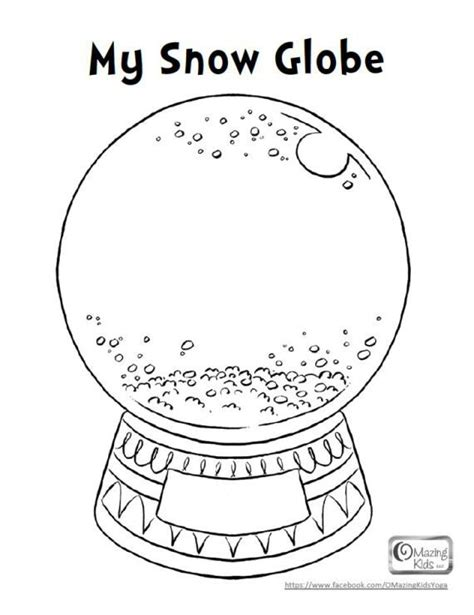 my snow globe coloring page coloring activity pages