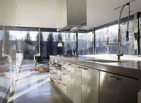 Stainless Steel Kitchen Design by Modern Kitchen Interior Designs Contemporary Kitchen Design