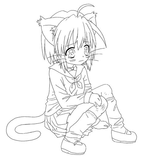 Anime Girl Para Colorear Imagui Anime Neko Coloring Pages Printable