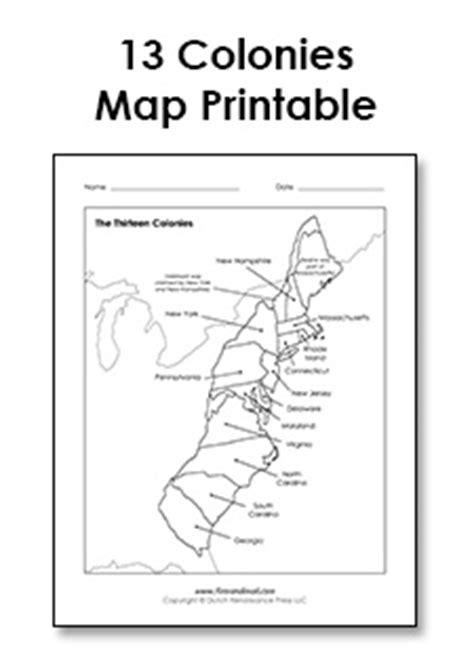 13 Colonies Worksheet Pdf by 13 Colonies Blank Map My