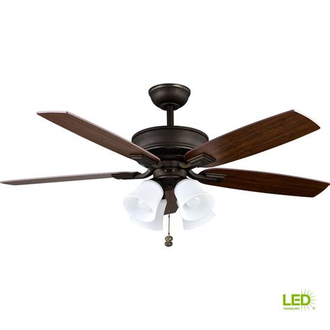 rubbed bronze ceiling fan with light hton bay carrolton 52 in indoor rubbed bronze