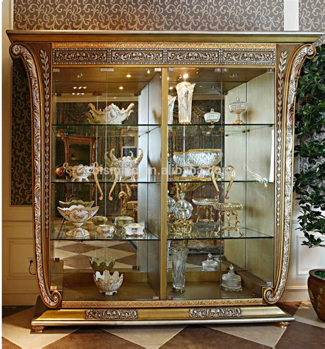 French luxury louis xv style wooden tv stand with showcase palace golden home decor 4 door tv