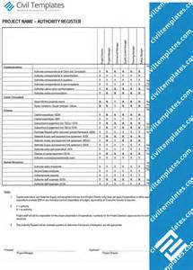 delegation of authority matrix template project management document templates civil engineering