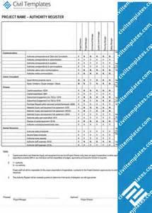 project management document templates civil engineering