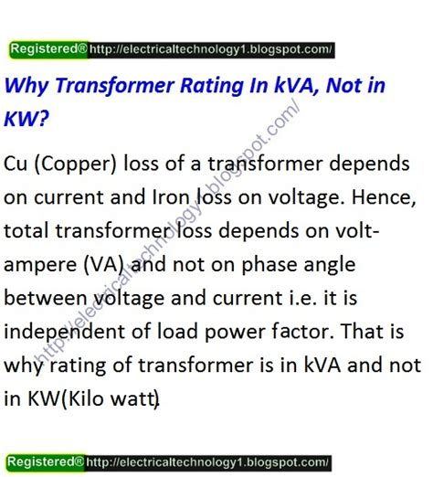 why capacitor rating in kva why transformer rating in kva not in kw