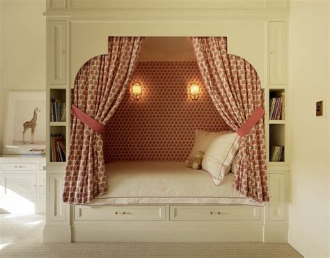 bed nook kids bed alcove ideas transitional girl s room