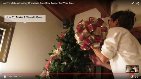 how to make an easy tree topper how to make a tree bow topper