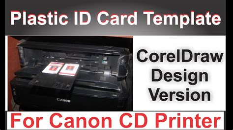 canon card templates how to design canon id card printing template in corel