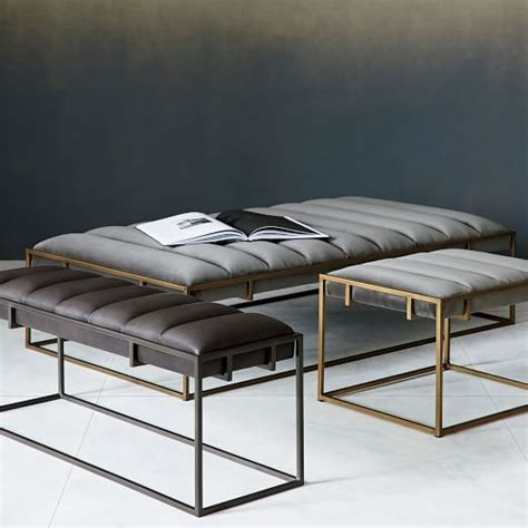west elm x bench fontanne ottoman square west elm