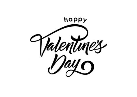 happy valentines day font happy day lettering vector free