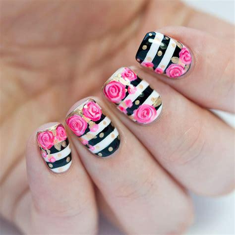imagenes de uñas pintadas juveniles 2015 40 incre 237 bles dise 241 os en blanco y negro para pintar tus u 241 as