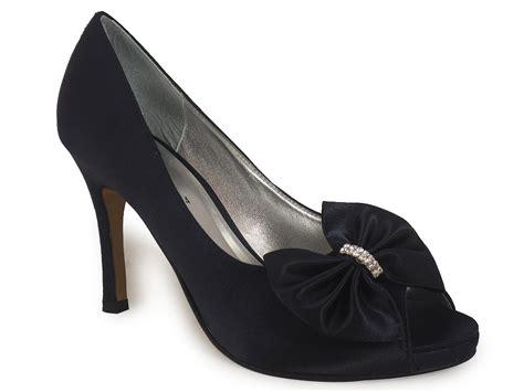 Satin Bridesmaid Shoes by Navy Satin Prom Bridal Bridesmaid Shoes Size 3 8 Ebay