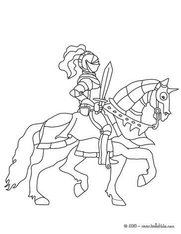 printable pictures knight on horseback knight and sword on horseback coloring pages hellokids com