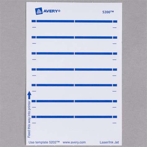 Avery 5202 11 16 Quot X 3 7 16 Quot White Rectangular Write On Printable 1 3 Cut File Folder Labels Avery File Folder Labels 5202 Template