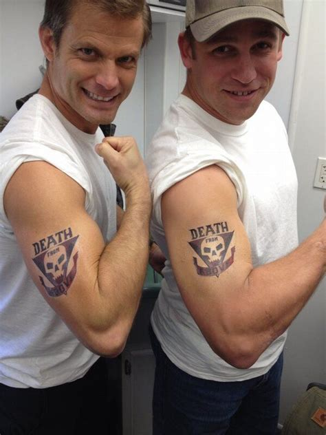death from above tattoo casper dien on starship troopers and