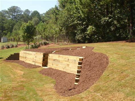 Landscape Timbers Maine Retaining Wall Designs Ideas Retaining