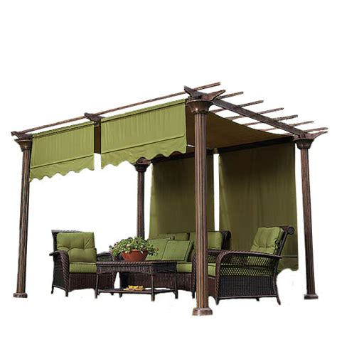 Rona Retractable Awnings by Universal Designer Replacement Pergola Shade Canopy Ii