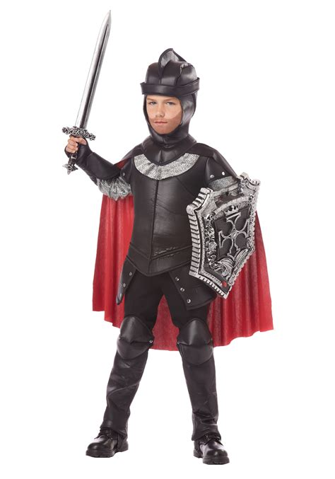 boys the black knight costume