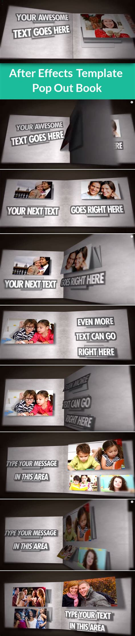 after effects templates free aep pop out book after effects template aep downloads