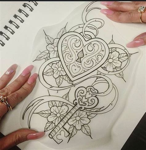 heart locket and key tattoo designs locket with key ideas