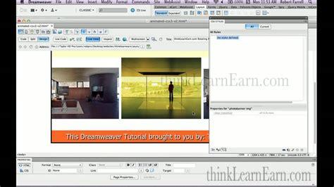 Dreamweaver Tutorial Gallery | dreamweaver tutorial lessons html5 cs3 keyframe animation