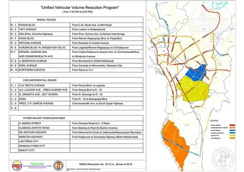 mmda number coding scheme directions routes maps full implementation of revised number coding begins